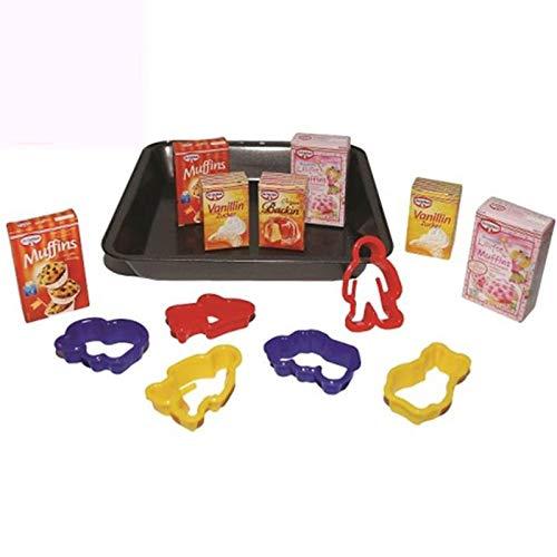 #11 Backblech mit Dr. Oetker Produkten, Ausstechförmchen: Kaufladen Zubehör Backblech Kaufmannladen Spielküche Zubehoer