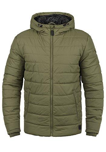 Blend Nilson Herren Steppjacke Übergangsjacke Jacke mit Kapuze, Größe:L, Farbe:Burnt Olive (77011)