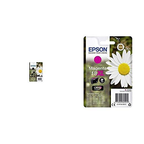 Epson C13T18114022 - Cartucho de tinta + Cartucho De Tinta 18 Xl 6,6 Ml Magenta, XL válido para EPSON Expression Home102