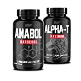 Nutrex Research Anabol Hardcore & Alpha T Bundle 60 Count | Anabolic Activator, Muscle Builder and Hardening Agent | Testosterone Booster Stamina and Libido