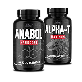 Nutrex Research Anabol Hardcore & Alpha T Bundle 60 Count | Anabolic Activator Muscle Builder and Hardening Agent | Testosterone Booster Stamina and Libido