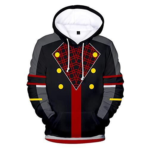 PLMNK-Kingdom Hearts-Pull-Over De Dibujos Animados En 3D, Suéter De Bolsillo De Manga Larga, Sudadera con Capucha Unisex, Sudadera Informal Transpirable, Ropa para Niños Hoodie-XXX-Large