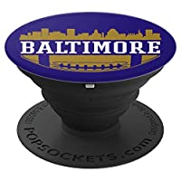 Baltimore Football Cityscape Maryland Raven Nation Gift PopSockets Grip and Stand for Phones and Tablets