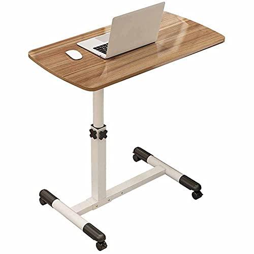 LJFYXZ Mesa de Ordenador Mesa Auxiliar con Ruedas para Cama y Sofá Plegable Escritorio Giratorio de 360 ° 70x40cm