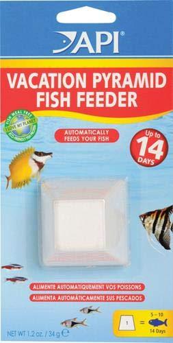 API VACATION PYRAMID FISH FEEDER 14-Day 1.2-Ounce Automatic Fish Feeder