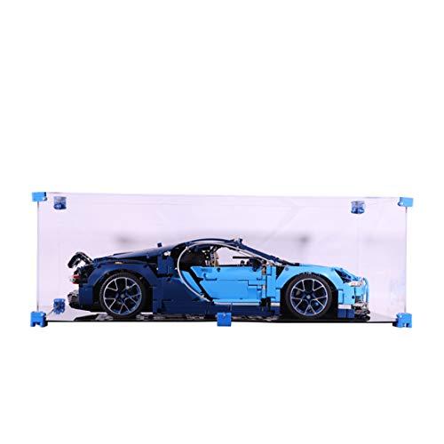 Seciie Acrílico Vitrina Showcase per Lego Bugatti Chiron, Acrylic Display Box Compatible con Lego 42083 Bugatti Chiron - Modelo No Incluido
