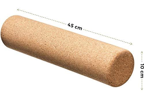 Balance-Board mit Korkpads & Korkrolle & Korkmatte | 70 x 30 cm | Gleichgewichtsbrett | Wackel-Brett | Koordinationstraining | Trainingsgerät für Gleichgewicht & Koordination (Rolle für Balanceboards)