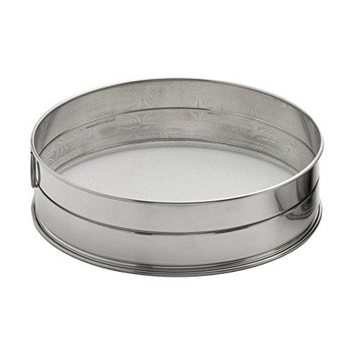 Weis Mehlsieb Durchmesser 16 cm, Edelstahl, Silber, 16 x 16 x 5.5 cm