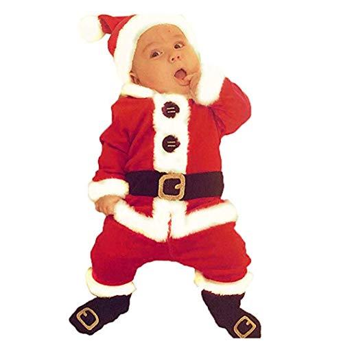 Hailouhai Completo Natalizio per Adulto Santa Unisex Suit Costume Set per Cosplay Party, Natale Adulto...