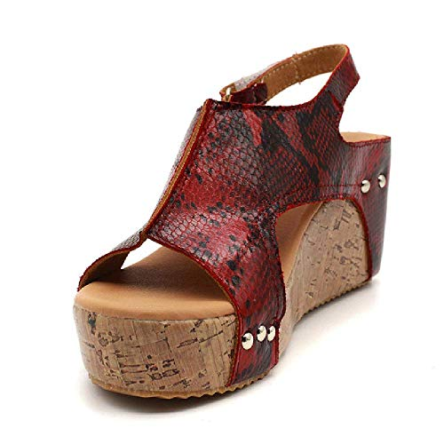 Sandalias de plataforma para mujer, zapatos de cuña, zapatos para mujer, tacones, zapatos de verano, sandalias de cuña de cuero