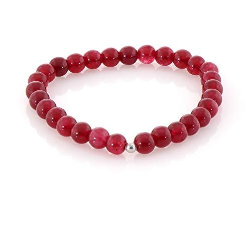 Pulsera de ónix rojo de 10 mm, pulsera de piedra roja, ágata roja, piedra curativa de chakras, joyería de ónix rojo, cuentas de ágata, pulsera de cuentas de ónix
