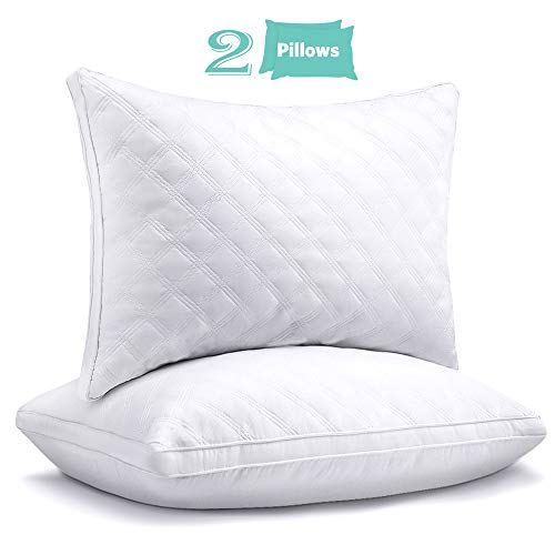 """Sable Hotel Pillows for Sleeping 2 Pack Queen, Goose Down Alternative Pillows for Sleeping Side Sleeper Super Soft Plush Fiber Fill, Adjustable Soft, Relief for Neck Pain, 30""""×20"""""""