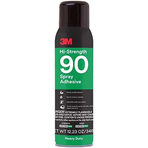 3M Hi-Strength 90 Spray Adhesive, Permanent, Bonds Laminate, Wood, Concrete,...
