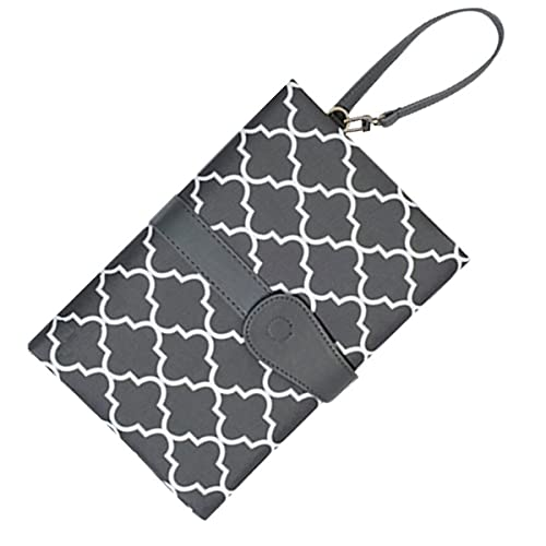 Baby Bucket Portable Foldable Baby Kid Changing Mat Pad Cover Change Nappy Bag Travel Pocket (Grey)