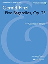 Five Bagatelles, Op. 23: Clarinet in B-flat and Piano with online audio of performance and