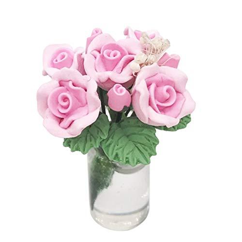 WOWOWO - Minipuppenzubehör in Rosa, Größe 4,5 x 4,5 x 6,8 cm