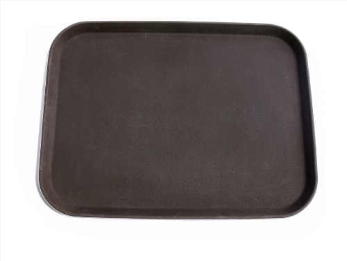 New Star Foodservice 25200 Plastic Non-Slip Tray, Rectangular, 15 by 20-Inch, Brown, Pack of 12