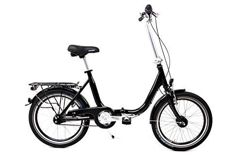 20 Zoll Alu Klapp Fahrrad Faltrad Folding Bike Shimano 7 Gang Nabendynamo Black schwarz