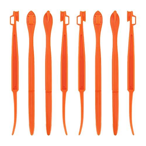 LUTER 8 Stück Orangenschäler Kunststoff Niedliche und Praktische Schäler für Orange, Zitrone, Früchte