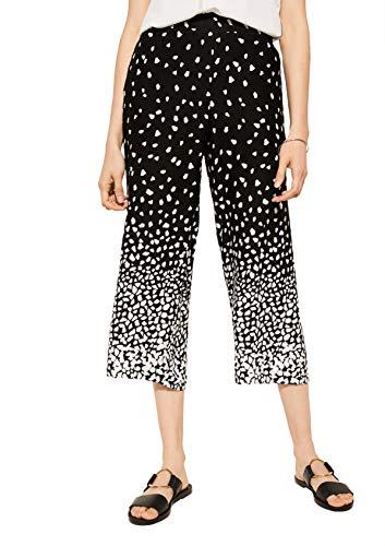 comma Casual Identity Damen Regular Fit: 7/8-Stoffhose Grey/Black 36