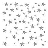 YPLonon Pegatinas de Estrellas para Pared Plateado - 2 Hojas Vinilo Estrellas Infantiles 130 Piezas Estrellas para Pared Decorativas de PVC para Dormitorio de Niña Niño Infantil y Guardería