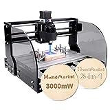【3W】Macchina da fresatrice CNC, macchina per incisione laser a 3 assi per legno acrilico