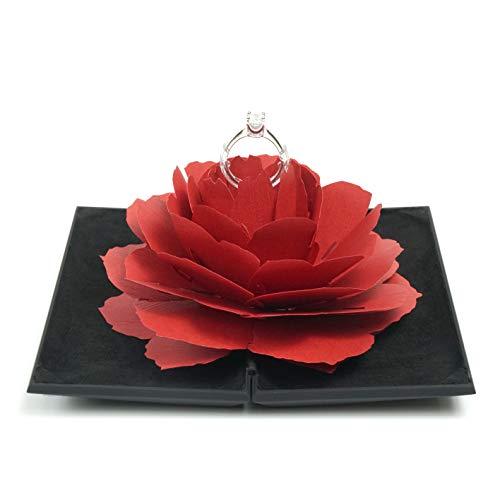 Romantech Ring Case Resin Black (Red flower)