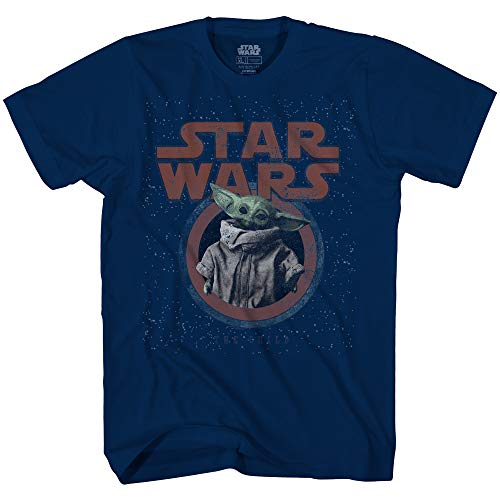 Star Wars Mandalorian The Child Galaxy T-Shirt für Erwachsene, offizielles Lizenzprodukt - Blau - 3X-Groß