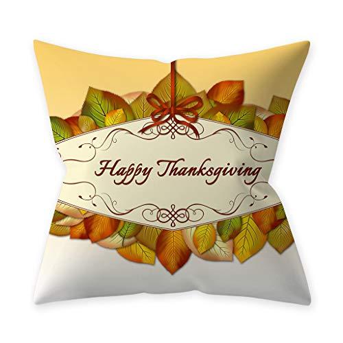 Fasclot Thanksgivin Pumpkin Throw Pillow Cover Pillowcases Decorative Sofa Cushion Cover