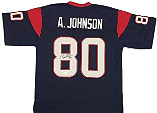Andre Johnson Autographed Signed Blue Jersey - JSA Authentic