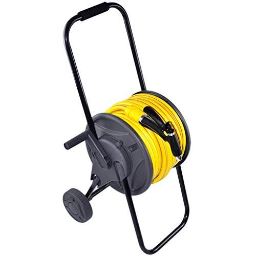 Carrete de manguera Manguera de agua retráctil enrollador de manguera de jardin | Rebobinado automático | Conector | Bloqueo de cualquier longitud | para riego, lavado de coches, manguera de jardín,