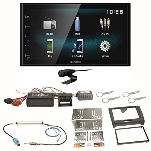 Kenwood DMX-120BT Bluetooth Freisprecheinrichtung USB MP3 Autoradio 2-DIN Moniceiver Einbauset für Audi TT 8J