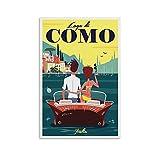 QTYB Vintage Französische Stadt Poster Gary Godel's See