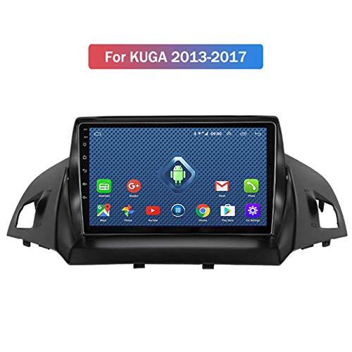 WY-CAR GPS Navegación del Coche estéreo para Ford Kuga Escape C-MAX 2013-2016 Soporte Mirrorlink/Control de Volante/AUX/USB/Bluetooth/Hands-Free Calling/Canbus