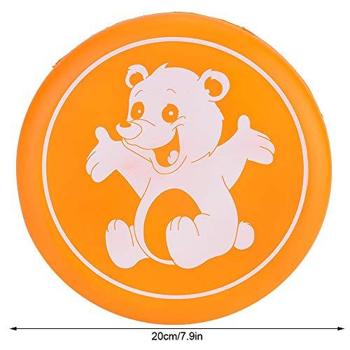 Alomejor Flying Disc Mini Flying Saucer Kinder Outdoor Beach Sports Spielzeug Spin Fangspiel Flying Disks(Orange)