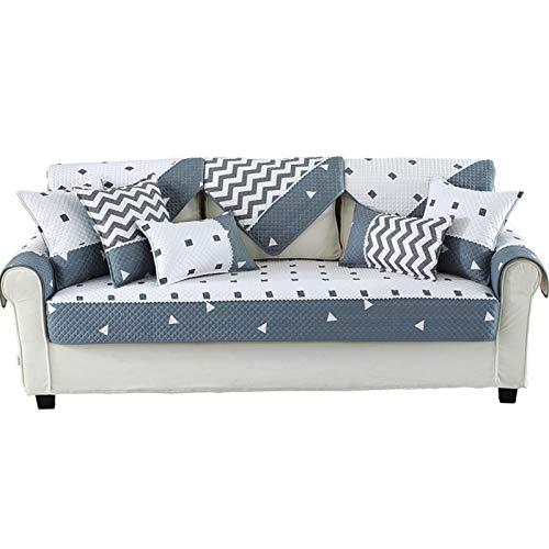 GHKT Tapa de sofá de Tela Spandex Tela Acolchada Combinación Antideslizante Pet Sofá de Mascota Cubierta de cojín de Toalla Cojín de sofá Rayado de algodón para la mayoría de los Tipos de sofás