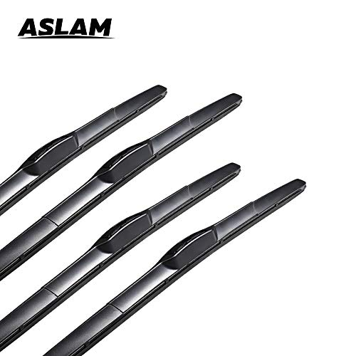 """Windshield Wipers ASLAM Hybrid Wiper Blades 22"""" 22"""" All Weather Blades for U/J Hook Exactly Fit Original Equipment Wipers Replacement(2 Pairs)"""