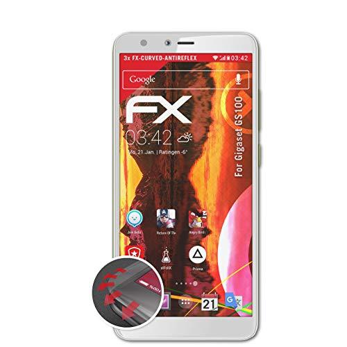 atFolix Schutzfolie kompatibel mit Gigaset GS100 Folie, entspiegelnde & Flexible FX Bildschirmschutzfolie (3X)