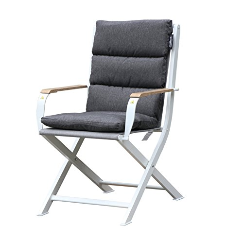 Westfield Outdoors Westfield Outdoor Home & Garden Zircon Chair Garten-Esszimmerstuhl, Weiß/Grau, Large