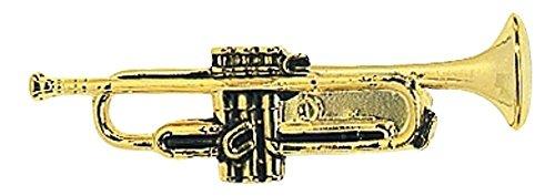 GEWA 980062 Unisex-Brosche Anstecknadel Trompete, goldfarbig