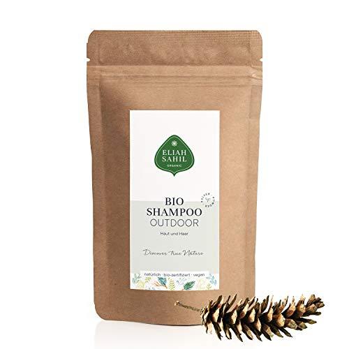 Outdoor Bio Re-Fill Bag Navulverpakking 250 gram 100% biologisch gecertificeerde natuurlijke cosmetica, voor dames en heren, shampoo en haar, ca. Reishampoo Zero (groen) Waste