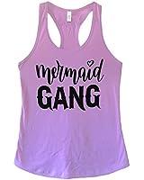 The Bold Banana Women's Mermaid Gang Tank Top - L - Lilac