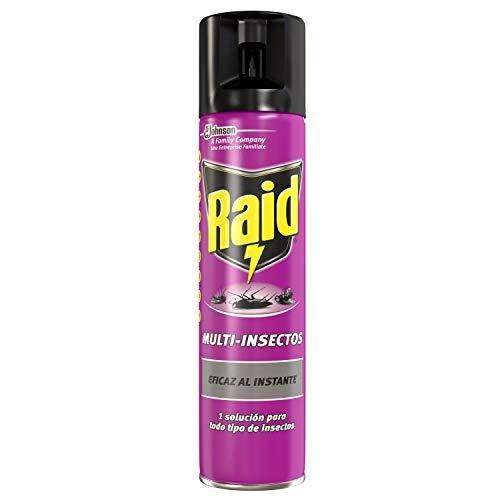 Raid Aerosol Multi-Insectos Spray Insecticida Eficaz Contra Todo Tipo de Insectos, Protección para tu Hogar con una Agradable Fragancia - 400 ml