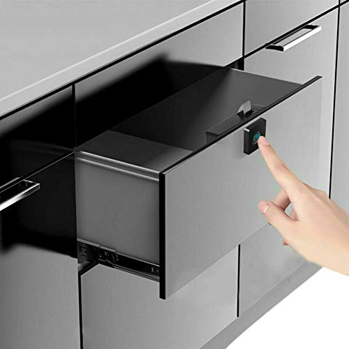 Jacqu Smart Fingerprint Lock Keyless anti-diefstal kast-sluitvak voor Home Office Drawer Box