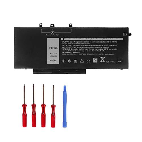 Ouside GJKNX Battery 7.6V 68Wh 8500mAH Compatible with Dell Dell Latitude E5480 E5490 E5491 E5580 E5590 E5591 Precision 15 3520 M3530 Series Notebook GD1JP DY9NT 5YHR4 451-BBZG