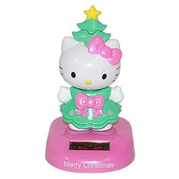 Connie N Randy Solar Christmas Hello Kitty Bobble