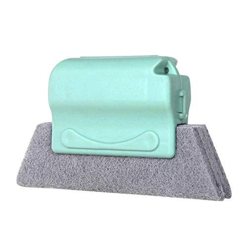 3 Stück Fenstertür Schienenreinigungsbürste, Fliesenreiniger Bürste Spalt Nut Reinigungsbürste Staubreiniger Werkzeugbürste Küchendekontaminationsbürste Grau Grün Blau
