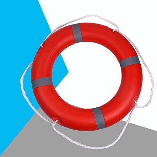 Professioneller Rettungsring für Erwachsene, Schwimmring aus Polyethylen-Kunststoff, ccs-Zertifizierung für Schiffsinspektion, 2,5 kg Rettungsring-Rettungsring + Rettungsringhalterung aus Edelstahl