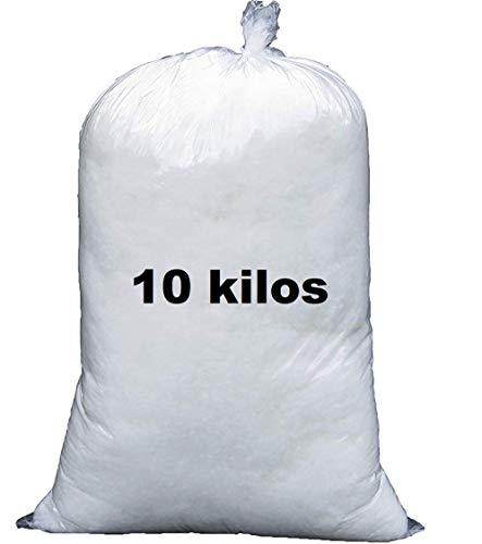 Ouate 10 Kilos pour Rembourrage, Carton de 10 kg, Lavable Jusqu'à 30°C - Neuf Made in France