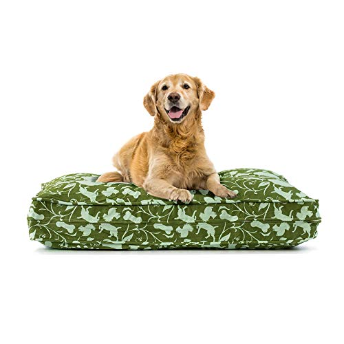 eLuxurySupply Dog Bed Cover Replacement | 100% Cotton Canvas - Pet Bed Zipped for Easy Removal | Washable, Preshrunk & Durable | Fits Orthopedic Memory Foam Dog Bed| Puppy Bed Small, Medium & Large